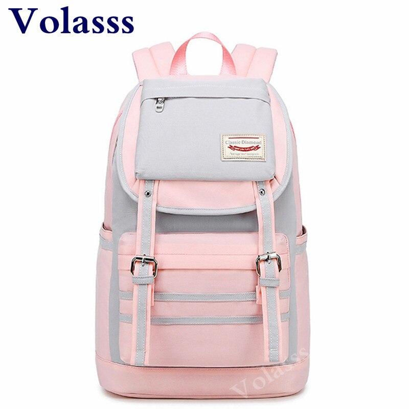 Girls Pink Middle School Student Backpacks Children Mochila Escolar Both Shoulders Backpack Mochilas Escolares Sac A Dos Enfant