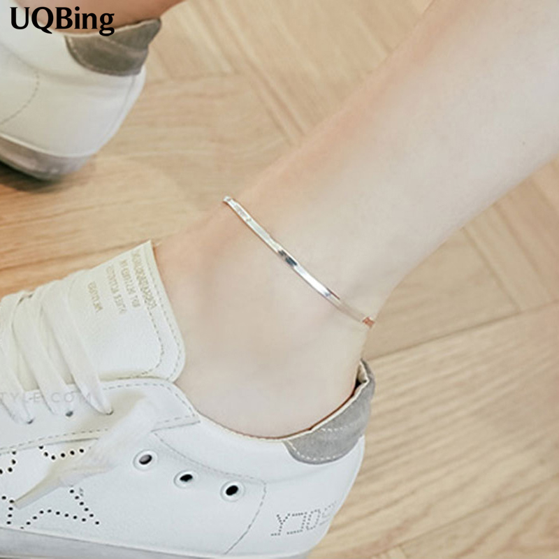 Free Shipping 925 Sterling Silver Snake Chain Anklets Jewelry For Gift