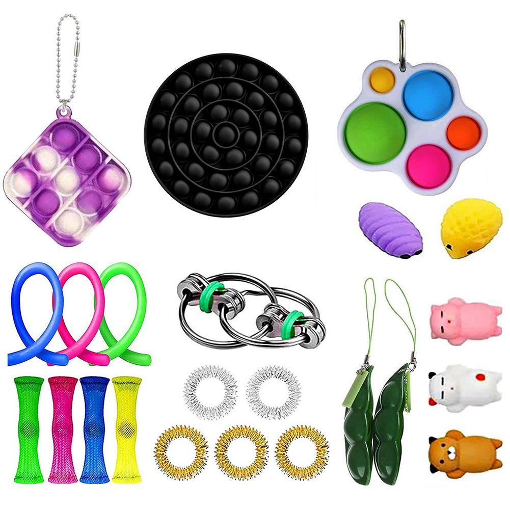 23 пакет сенсорная Непоседа игрушки, игрушка для снятия стресса, игрушки для игры, игрушка для снятия стресса для взрослых и детей, надувные и...