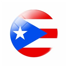 The Commonwealth of Puerto Rico flag Fridge Magnet 30MM 40MM 50MM Glass Magnetic Refrigerator Stickers Note Holder Home Decor(China)