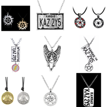 Supernatural Vintage Pentagram Pendant Necklace Religious SPN Shield Star of David Jewelry Sweater Chain Hallowmas Gift