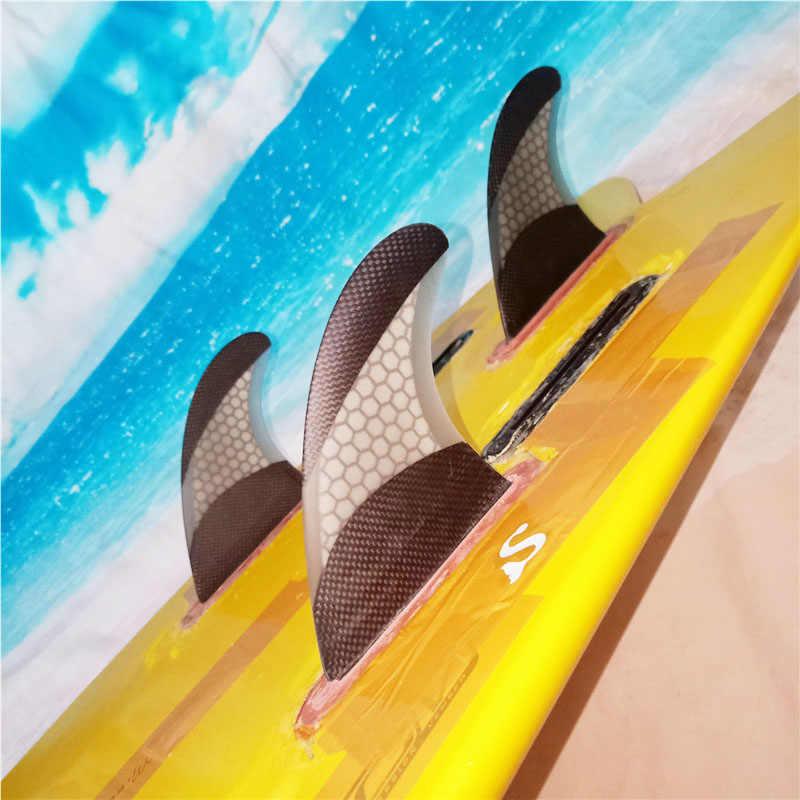 """サーフボードフィン将来プラグ """"ジョン · ジョン · フィレンツェ"""" トライフィンセットカーボングラスファイバーサーフフィンサーフボードフィンスラスタサイズ大"""