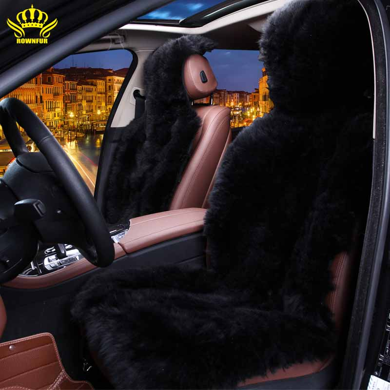 1pc car seat cover,long hair Natural fur sheepskin seat cover,black color,auto seat covers universal for car geely atlas nissan