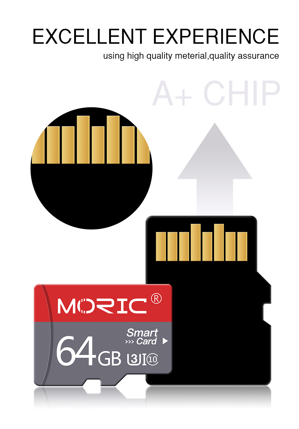 Newest Class 10 Moric Micro SD card 128GB 256GB TF Cards 16GB 32GB Flash Memory 64GB Microsd Card 128gb with free Adapter