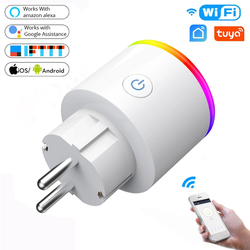 WiFi Smart Plug 16A EU Adaptor LED Wireless Remote Voice Control Power Energy Monitor Outlet Timer Socket for Alexa Google Home
