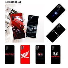 NBDRUICAI Cool honda car Cover Black Soft Shell Phone Case for Samsung Note 3 4 5 7 8 9 10 pro A7 2018 A10 A40 A50 A70 J7 2018(China)