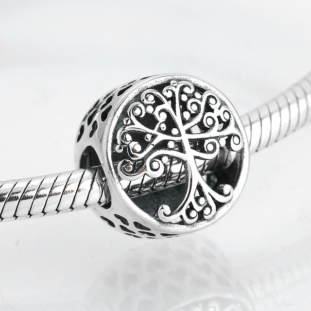 New 925 Sterling Silver Love Family Enamel Round shape CZ Beads Fit Original Charms Pandora Bracelet Bead Jewelry making Bijoux