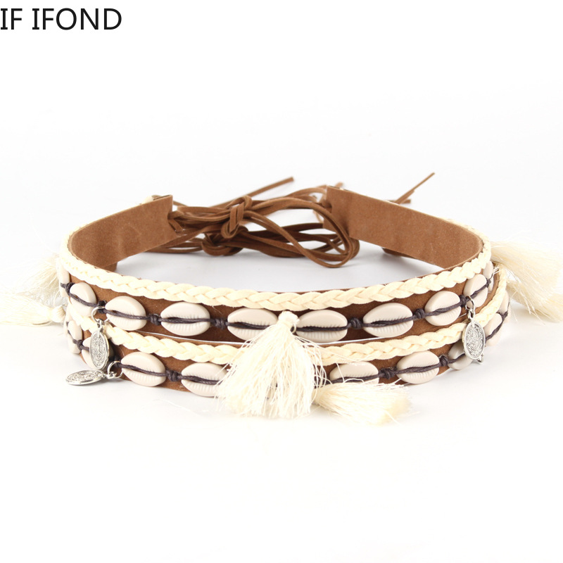 wholesale fedora hats leather buckle Handmade multicolor decorate chain band belt For women men western cowboy hats