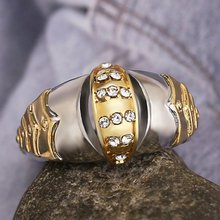 Fashion Female Big Stone Finger Ring Cute Luxury Silver Gold Color Ring Love Wedding Jewelry Promise Engagement Rings For Women(China)