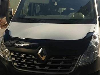 Van Demon Tailored Black Bonnet Deflectors Acylic Hood Stone Bug Protector Guard for Renault Master (2014 on)