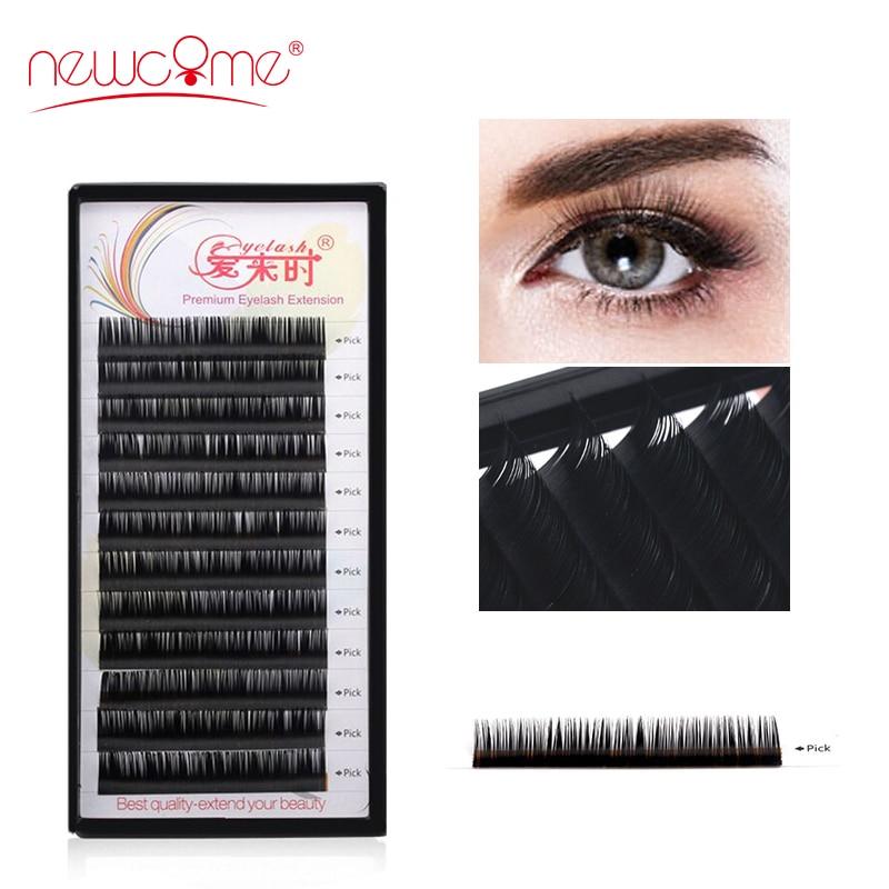 All Sizes Eyelash Extension Individual Natural Handmade Cilios Lash Faux Mink Lashes Extension Makeup Professional Free Shipping