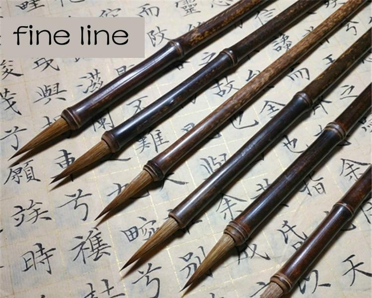 Caneta de caligrafia de cabelo doninha linha