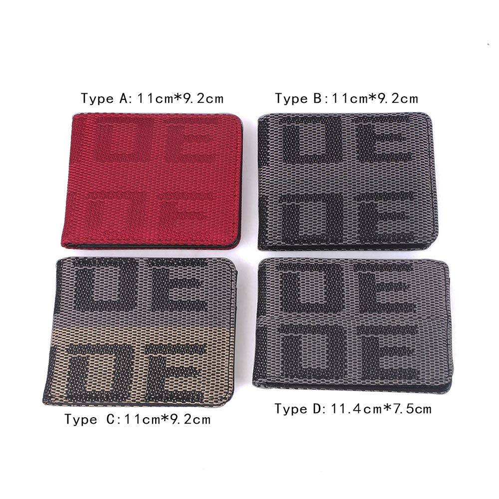 cheapest RASTP-BRIDE Wallet JDM Purse Racing Seat Fabric and Leather Canvas Wallet Key Case RS-BAG001