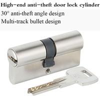 Double Pin Secure Door Cylinder Serpentine Groove Biased Lock 65 75 85 95 120mm Cylinder AB Key Entrance Brass Door Lock