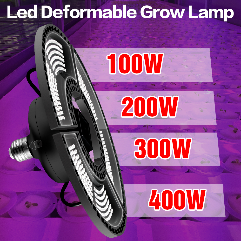 Full Spectrum Grow Light LED Plant Growing Lamp E26 Hydroponic LED Light 100W 200W 300W 400W E27 Growth LED Bulb 220V Phyto Lamp