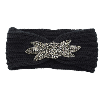 Women Knitted Headbands Winter Warm Crochet Head Wrap Wide Elastic Hair Headband with Accessories Bands For lady