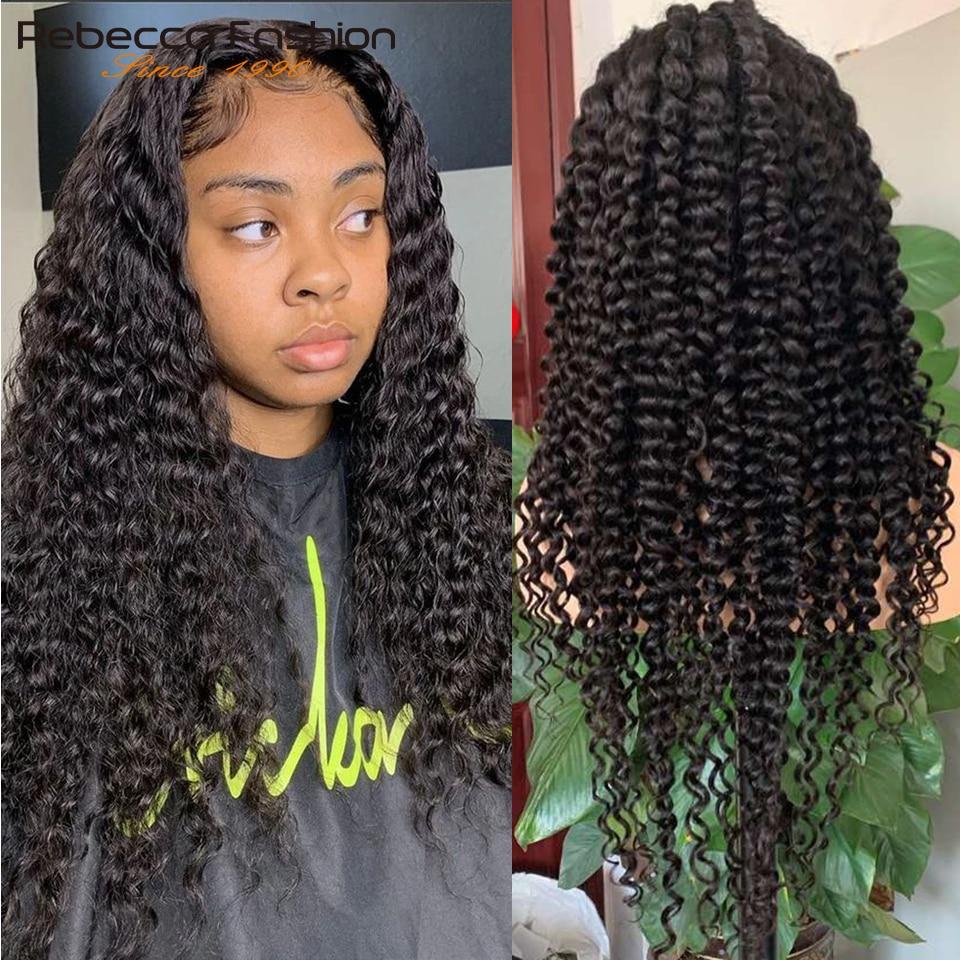 150% x плотность глубокая волна 13X4 кружева фронта человеческих волос парик с волосами младенца бразильские Remy человеческие волосы фронтальны...