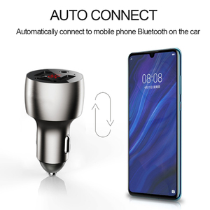 Image 5 - 3.5mm AUX Bluetooth 5.0 FM Transmitter Wireless Modulator 4.8A Dual USB Car Charger Handsfree Car MP3 Player Aluminum alloy Body