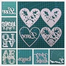 Die-Mold Craft Dies Paper-Craft Scrapbooking Metal Inlovearts Love-Letter Punch-Stencils