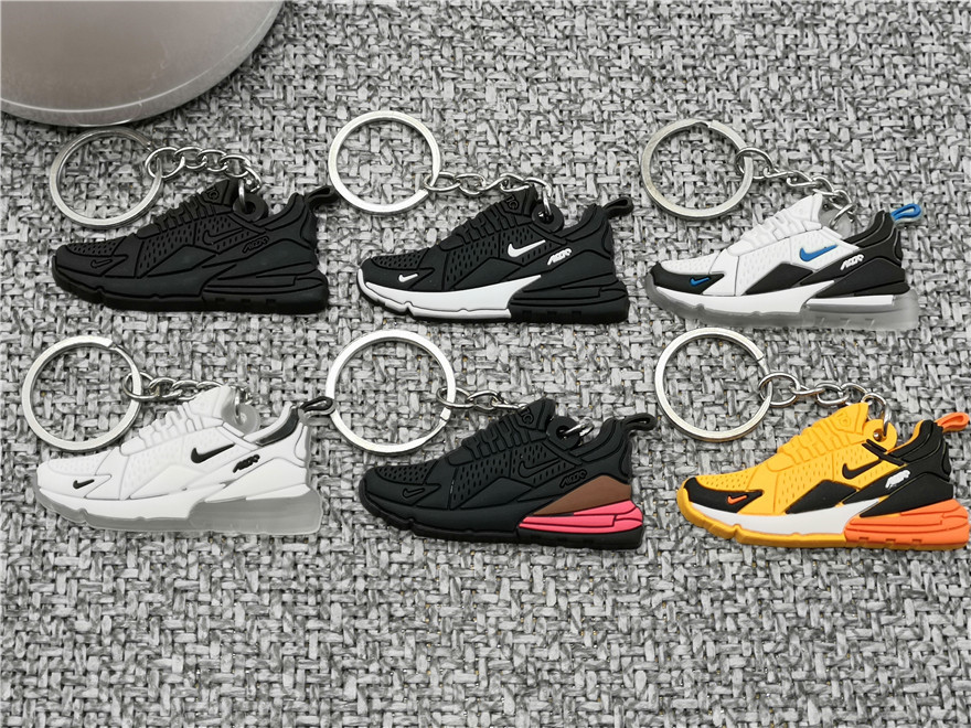US $0.45 75% OFF|Cute Mini Silicone Max 270 Shoes Keychain Woman Bag Charm For Men Kids Key Ring Gifts Sneaker Accessories Air Shoes Key Chain on