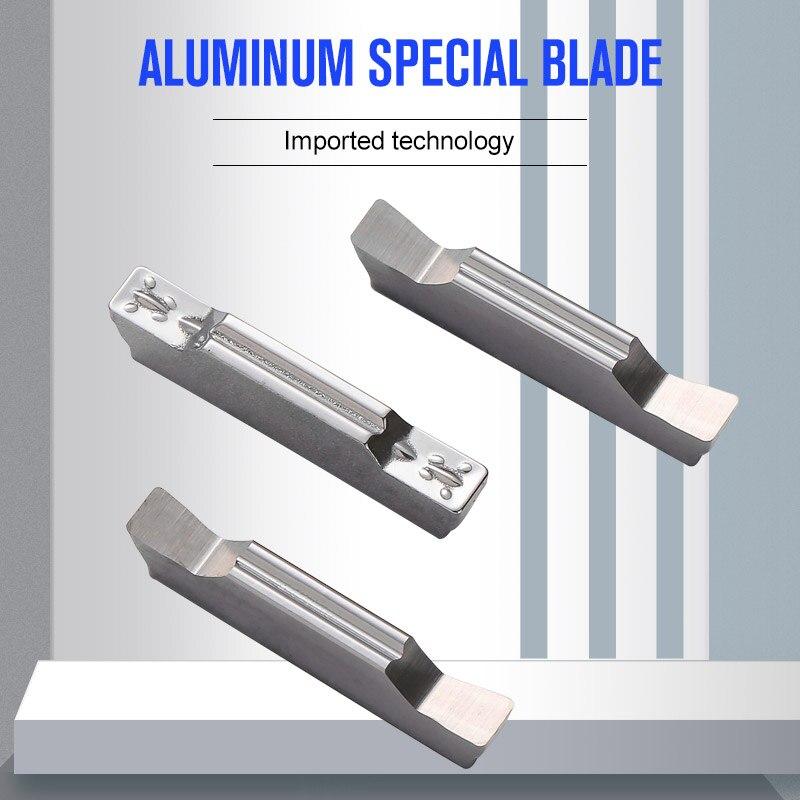 Youscard 10 peça torno ferramentas de alumínio cortador lâmina torneamento ferramentas ferramenta corte mggn300 mggn300 mggn150 mggn150 mggn400 mgmn400