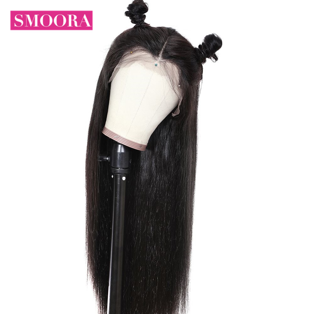 Straight Lace Part  Wigs 13x1 Lace Front Hair Wigs with Baby Hair Pre Plucked  Hair 150% Density 4