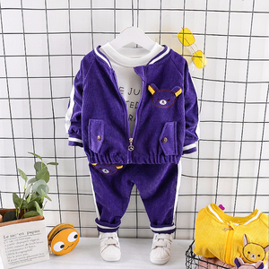 Image 3 - Childrenl Baby Meisjes Jongens Kleding Peuter Kleding Baby Herfst Suits Cartoon Jas T shirt Broek 3 Stks/sets Kids Leisure Kostuum