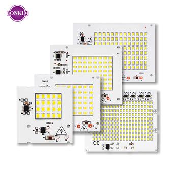 Lampy LED SMD Chip Smart IC AC 220-240V 10W 20W 30W 50W 100W DIY na zewnętrzny projektor oświetleniowy Spotlight ogród zimny biały ciepły biały tanie i dobre opinie MING BEN CN (pochodzenie) Piłka Smart IC SMD Chip 240 v AC 220V-240V SMD2835 56*54 mm 980 lm 72*62 mm 1950 lm 90*75 mm 2750 lm