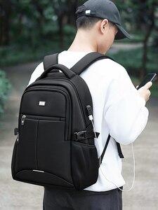 Image 3 - BaLangกระเป๋าเป้สะพายหลังแล็ปท็อปสำหรับ15.6นิ้วชาร์จพอร์ตUSBคอมพิวเตอร์กระเป๋าเป้สะพายหลังชายกันน้ำMan Business Daybackกระเป๋าเดินทางผู้หญิง