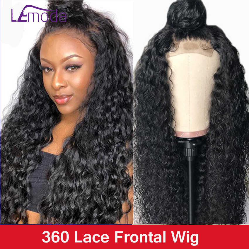 360 Lace Frontal Wig Pre Plucked Lemoda Water Wave Lace Front human Hair Wigs For Black Women Remy Hair