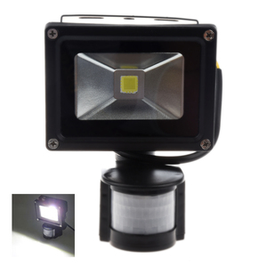 PIR Motion Sensor Security Wall Pure White LED Waterproof Flood Light Lamp 10W