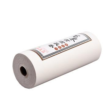 Półdojrzały papier Xuan chiński obraz surowy papier ryżowy 100m kaligrafia pół-dojrzałe rolki Xuan papiery malarstwo Wtrting dostaw tanie i dobre opinie suvtoper Half cooked Xuan