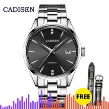 CADISEN 2019 남성용 시계 최고급 브랜드 남성용 기계식 시계 사파이어 시계 자동 시계 스포츠 시계 달력 Manly