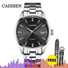 CADISEN 2019 Mens Watches Top Luxury Brand Mens Mechanical Watch Sapphire Watch Automatic Watch Sports Watch Calendar Manly