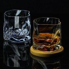 COM художественный дизайн мятые брючки для виски Стекло Нерегулярные Складки Verre водки чашки Личность бокалы для бренди со льдом, произведенный на одной винокурне стекло ROCK