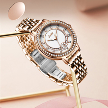 SUNKTA Fashion Watch Stainless Steel Waterproof Diamond Quartz