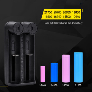 Image 5 - VOXLINK 18650 battery charger Smart charging 2 slot 3.7V 26650 18350 32650 21700 26500 Ni MH/Ni Cd Rechargeable Battery charger