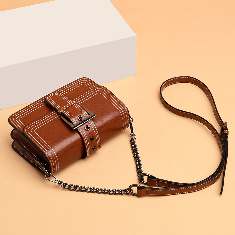 Bag Women's 2020 New Style Fashion Square Sling Bag WOMEN'S Leather Bags Crossbody Bag Women's Casual Chain