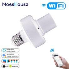 Lamp-Holder Light-Bulb Wifi Smart Smart-Life/tuya Adapter Voice-Control Alexa Google Home