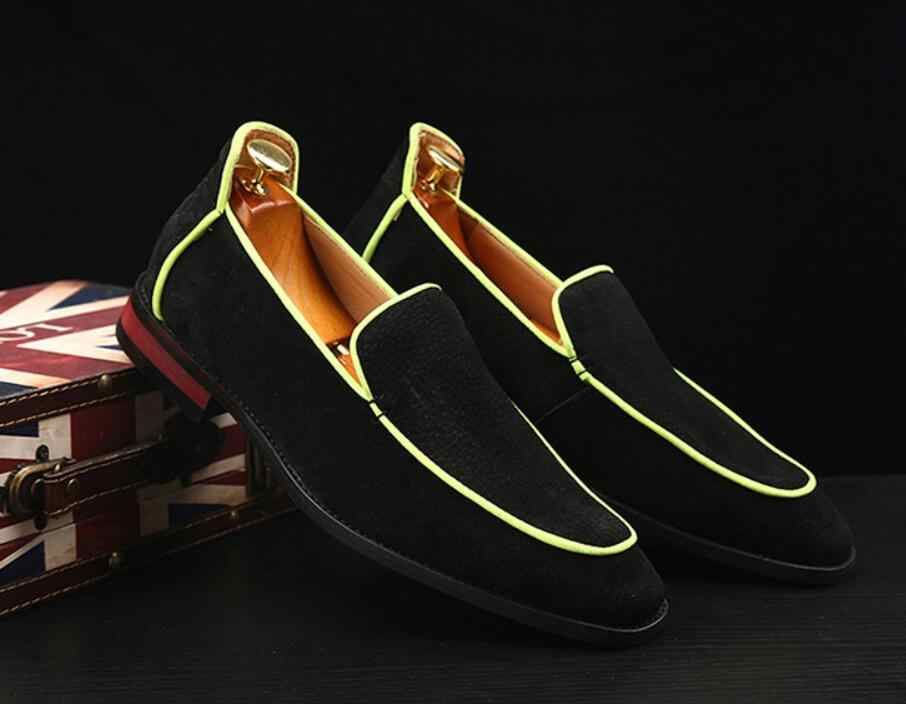 Marca Formais Sapatas De Vestido De Couro Dos Homens High-End Personalizado Moda Rebanho Grande Tamanho Mocassins Homens Homens Sapatos Casuais de Escritório