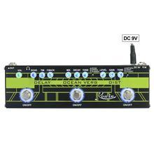Rowin гитары мульти-эффект педаль задержки Океанский глагол искажение 3 в 1 ряд с аналоговым и цифровым дисплеем пообщаться педали эффектов