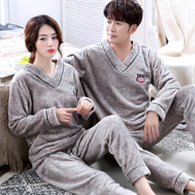 Winter Long-sleeved Thick Warm Pajamas Female Women Pajamas