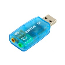 3D Audio Card USB 1.1 Mic/Speaker Adapter Surround Sound 7 CH for Laptop notebook цены