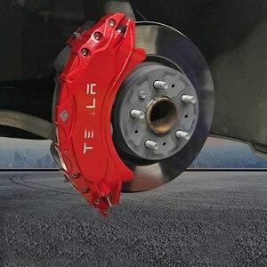 18 / 19 дюймов тормозной суппорт крышка Толщина модификация украшения 4 шт. для Tesla модель 3 Аксессуары