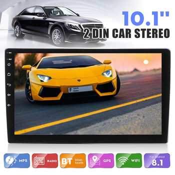 Android 8.1 Car Radio 2 Din 10.1 Inch 1+16G IPS 2.5D Touch Screen Stereo Radio GPS Navigation WIFI FM Multimedia MP4 MP5 Player image