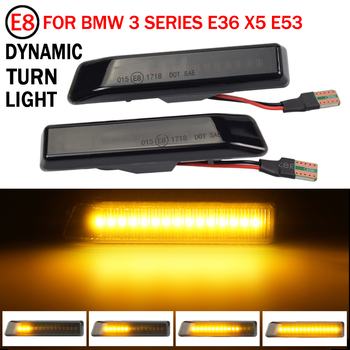 2x Flowing Turn Signal Light Dynamic LED Side Marker Light 12v Side Repeater Lamp For BMW E36 For BMW X5 E53 for BMW 3 Series image