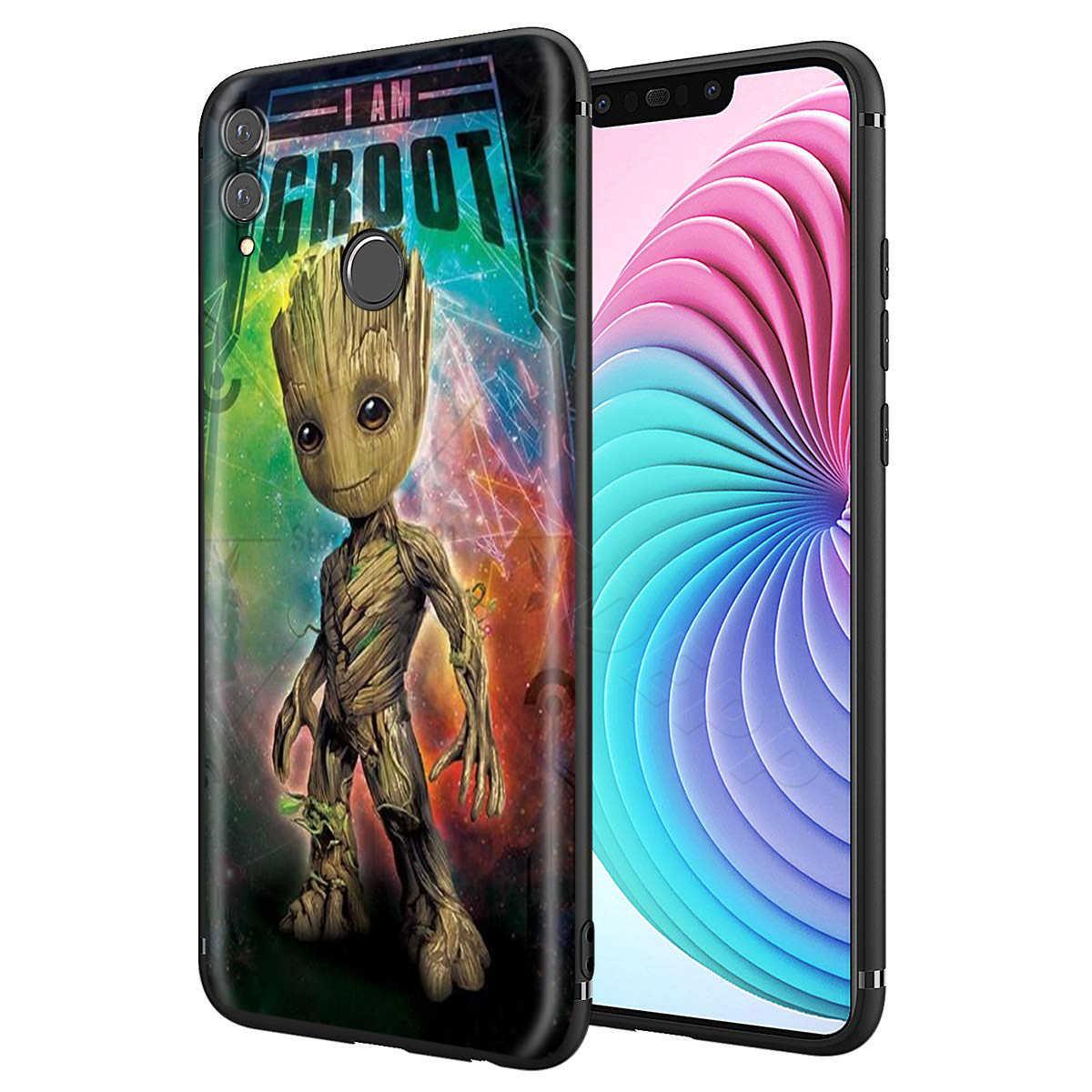 Webbedepp ガーディアン Groot 驚異ケース huawei 社 P8 P9 P10 P20 P30 Lite Pro の P スマート Z 2019 2019 ミニ