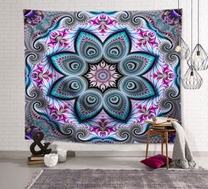 Bohemian Tapestry Wall Hanging Esoterics Witchcraft Bedroom Living Room Decor Polyester Hippie Tapestries Beach Towel