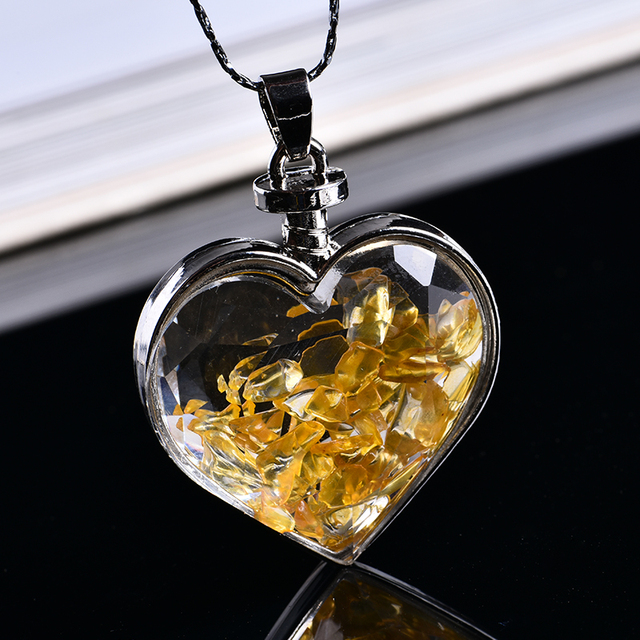 Natural Love Wishing Bottle Pendant  2