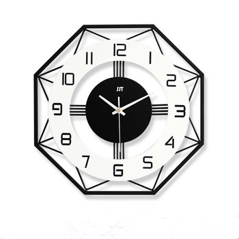 Nordic design style home wall clock classic wooden hanging clocks living room study office decorative wall watch
